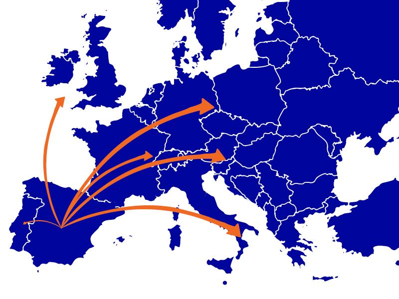 Mudanzas Valsan en Europa